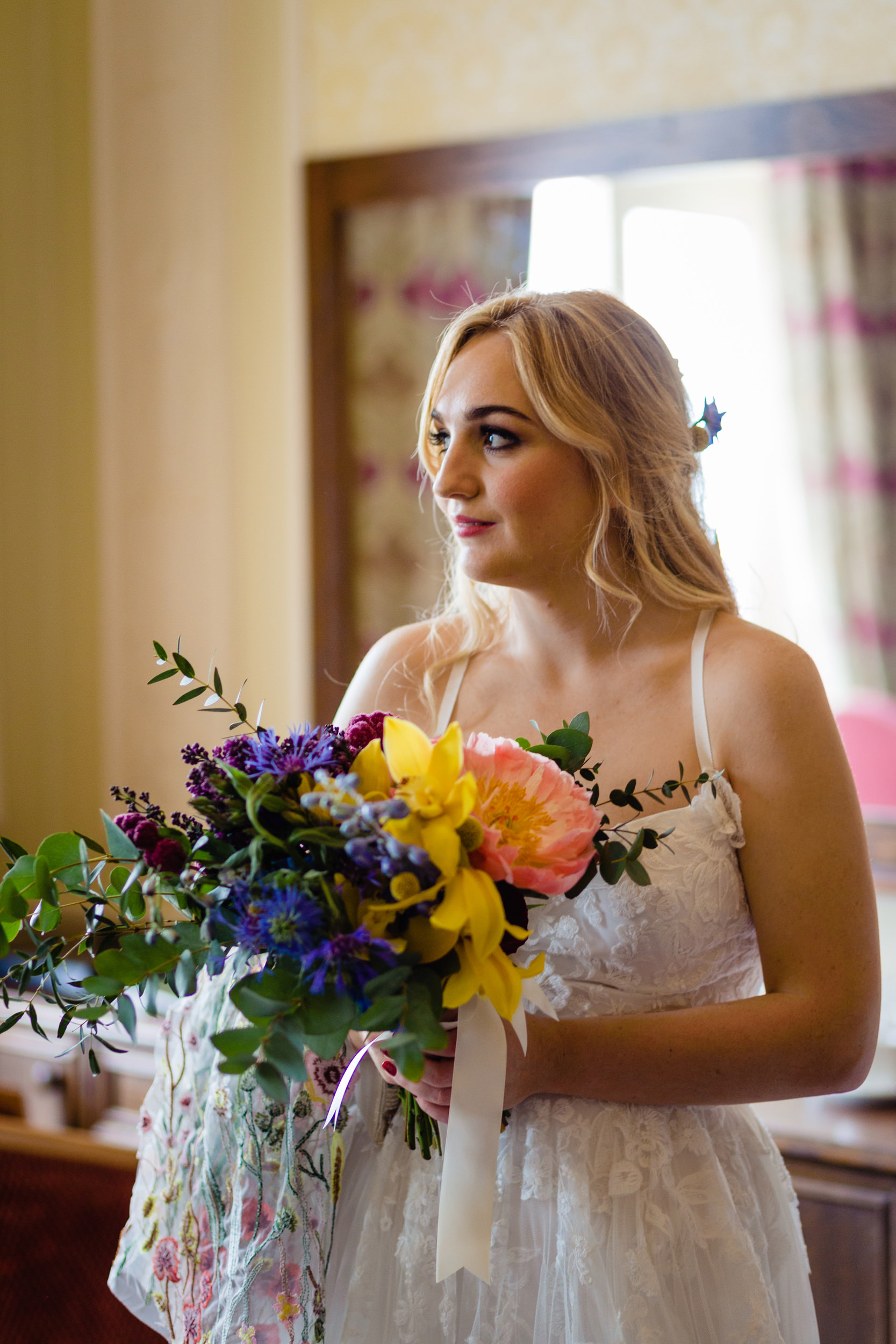 a bridal portrait before the wedding. wildwood and eden wedding photography by emma and rich.