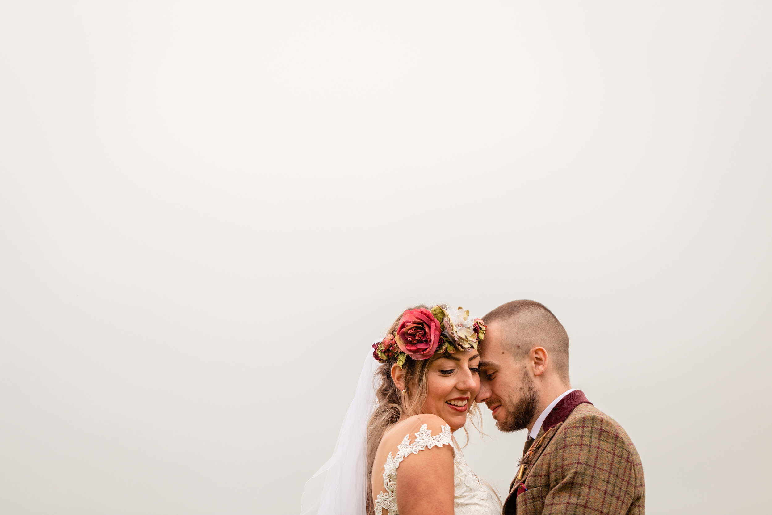 bride and groom portrait. esk valley wedding photography by emma and rich.
