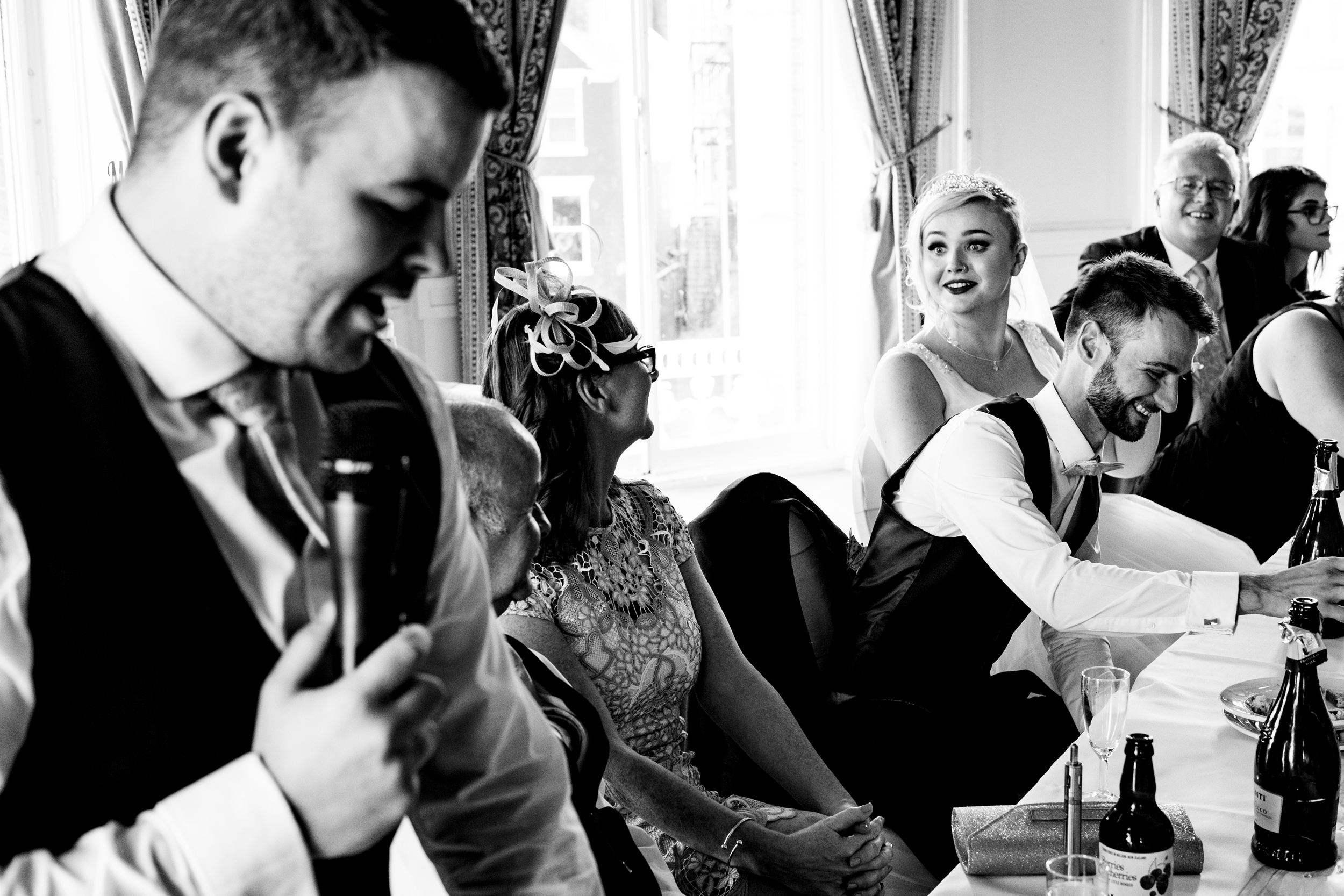 wedding speeches. grand hotel scarborough wedding photography by emma and rich.