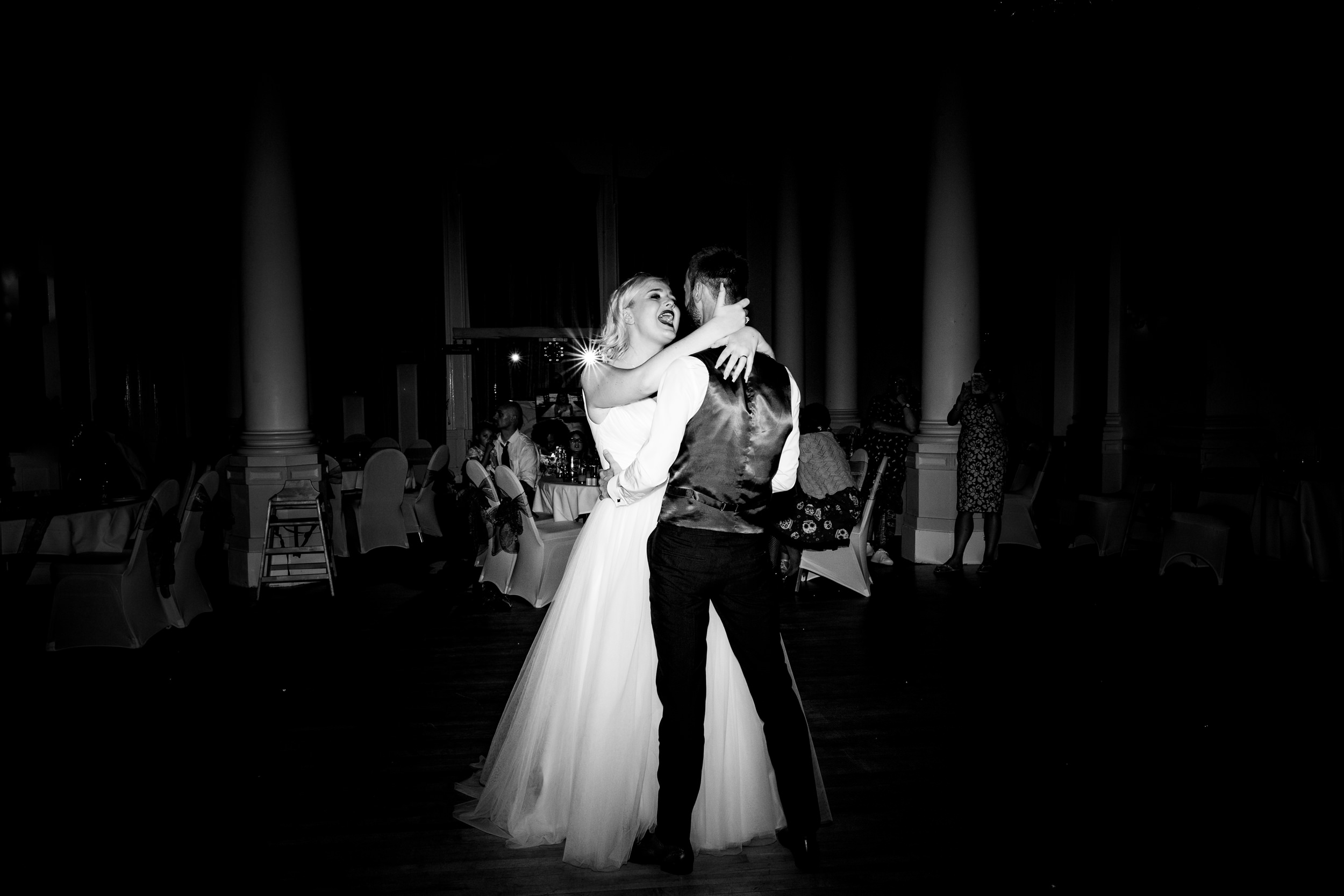 first dance. grand hotel scarborough wedding photography by emma and rich.