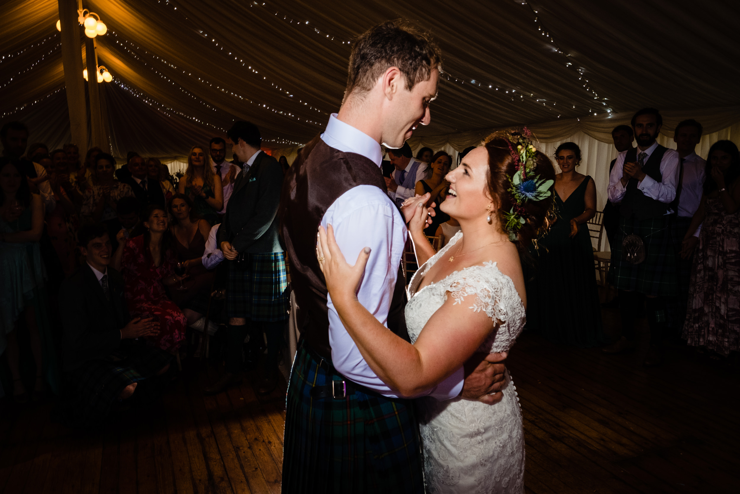 the first dance. scottish wedding photography.