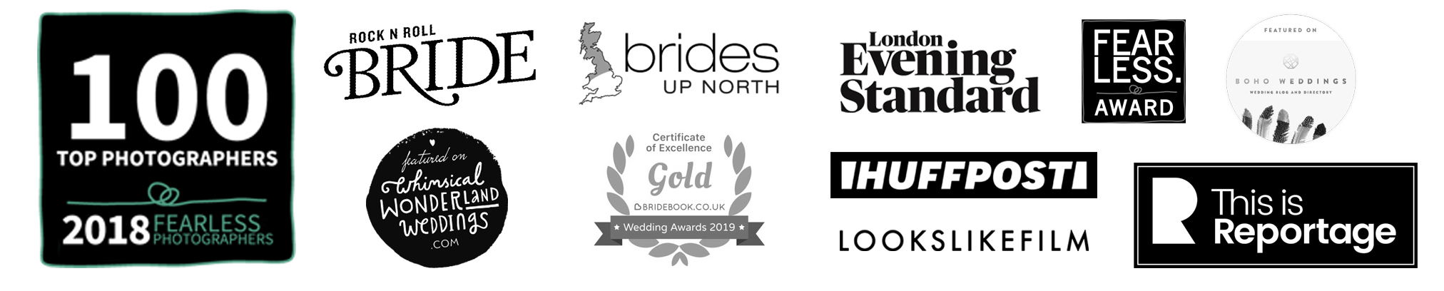 fun wedding photographers - emma + rich and all their awards