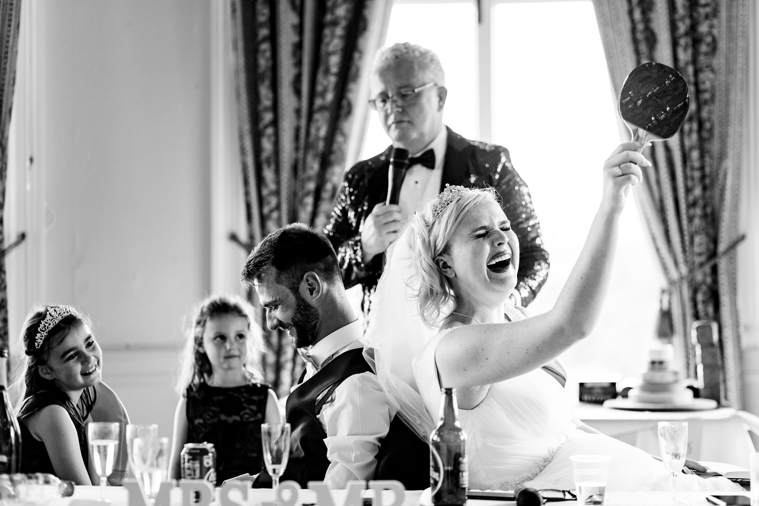 the mr and mrs game. grand hotel scarborough wedding photography by emma and rich.