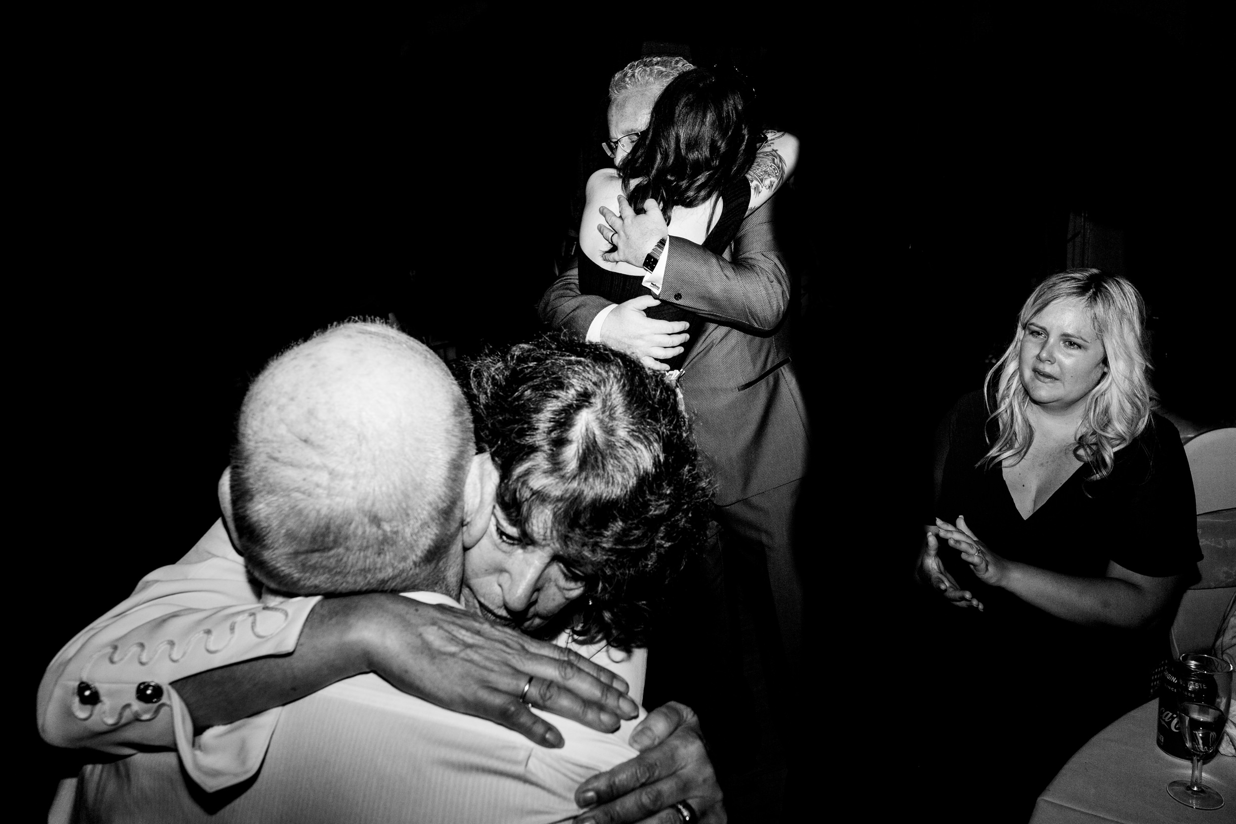 hugs. grand hotel scarborough wedding photography by emma and rich.
