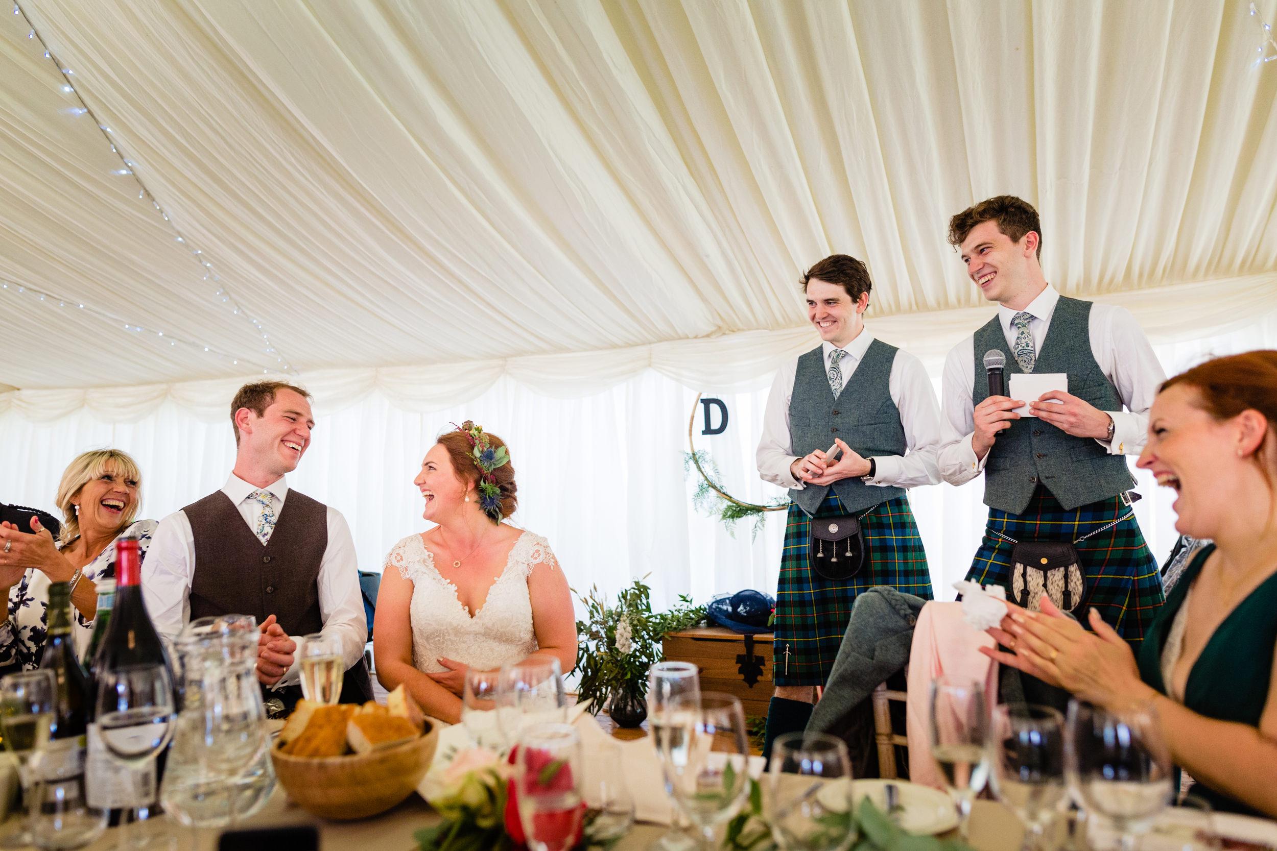 best mens speech. scottish wedding photography.